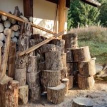 Holzernte eingebracht